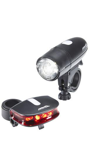 Red Cycling Products Bright LED Light Set faretti nero